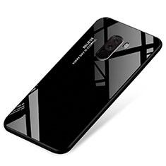 Custodia Silicone Specchio Laterale Sfumato Arcobaleno Cover per Xiaomi Pocophone F1 Nero