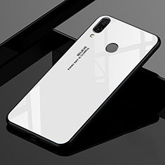 Custodia Silicone Specchio Laterale Sfumato Arcobaleno Cover per Xiaomi Redmi 7 Bianco