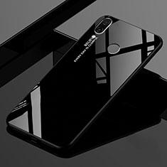 Custodia Silicone Specchio Laterale Sfumato Arcobaleno Cover per Xiaomi Redmi 7 Nero