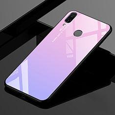 Custodia Silicone Specchio Laterale Sfumato Arcobaleno Cover per Xiaomi Redmi 7 Rosa