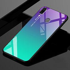 Custodia Silicone Specchio Laterale Sfumato Arcobaleno Cover per Xiaomi Redmi 7 Verde