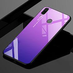 Custodia Silicone Specchio Laterale Sfumato Arcobaleno Cover per Xiaomi Redmi 7 Viola