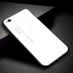 Custodia Silicone Specchio Laterale Sfumato Arcobaleno Cover per Xiaomi Redmi Go Bianco