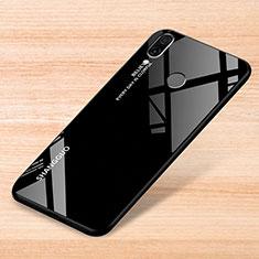 Custodia Silicone Specchio Laterale Sfumato Arcobaleno Cover per Xiaomi Redmi Note 7 Nero