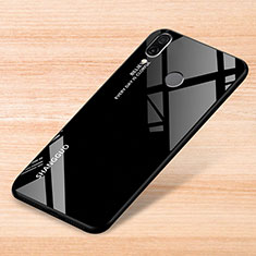 Custodia Silicone Specchio Laterale Sfumato Arcobaleno Cover per Xiaomi Redmi Note 7 Pro Nero