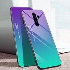 Custodia Silicone Specchio Laterale Sfumato Arcobaleno Cover per Xiaomi Redmi Note 8 Pro Multicolore