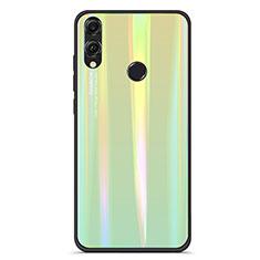 Custodia Silicone Specchio Laterale Sfumato Arcobaleno Cover R01 per Huawei Honor 8X Verde