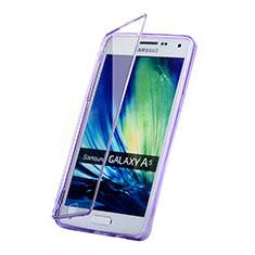 Custodia Silicone Trasparente A Flip Morbida per Samsung Galaxy A5 SM-500F Viola