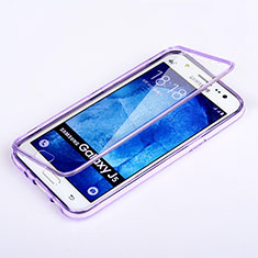 Custodia Silicone Trasparente A Flip Morbida per Samsung Galaxy J5 SM-J500F Viola