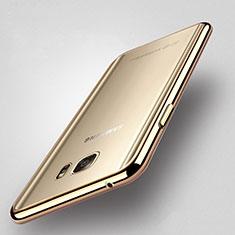 Custodia Silicone Trasparente Laterale per Samsung Galaxy Note 5 N9200 N920 N920F Oro