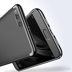 Custodia Silicone Trasparente Laterale per Xiaomi Mi Note 3 Nero