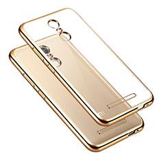 Custodia Silicone Trasparente Laterale per Xiaomi Redmi Note 3 MediaTek Oro