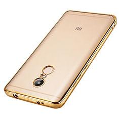 Custodia Silicone Trasparente Laterale per Xiaomi Redmi Note 4 Standard Edition Oro