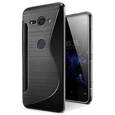 Custodia Silicone Trasparente Morbida S-Line Cover per Sony Xperia XZ2 Compact Nero