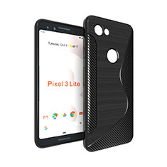 Custodia Silicone Trasparente Morbida S-Line per Google Pixel 3a Nero