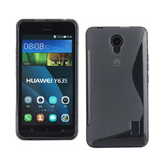 Custodia Silicone Trasparente Morbida S-Line per Huawei Ascend Y635 Dual SIM Grigio