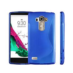 Custodia Silicone Trasparente Morbida S-Line per LG G4 Beat Blu