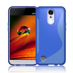 Custodia Silicone Trasparente Morbida S-Line per LG K10 (2017) Blu