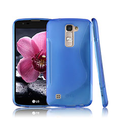 Custodia Silicone Trasparente Morbida S-Line per LG K10 Blu