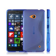 Custodia Silicone Trasparente Morbida S-Line per Microsoft Lumia 640 Blu