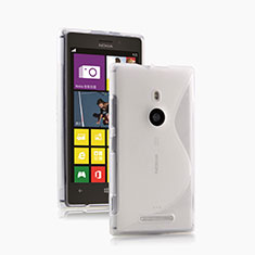 Custodia Silicone Trasparente Morbida S-Line per Nokia Lumia 925 Bianco