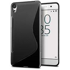 Custodia Silicone Trasparente Morbida S-Line per Sony Xperia E5 Nero