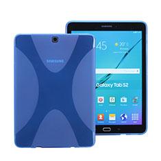 Custodia Silicone Trasparente Morbida X-Line per Samsung Galaxy Tab S2 8.0 SM-T710 SM-T715 Blu