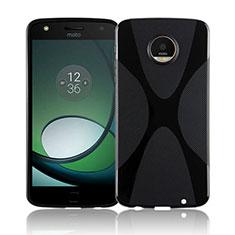 Custodia Silicone Trasparente Morbida X-Line T01 per Motorola Moto Z Play Nero