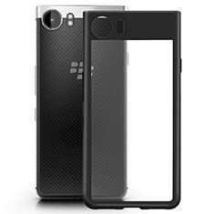 Custodia Silicone Trasparente Opaca Laterale per Blackberry KEYone Nero