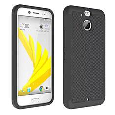 Custodia Silicone Trasparente Opaca Laterale per HTC Bolt Nero