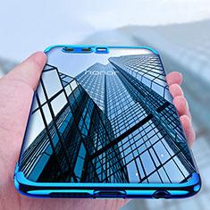 Custodia Silicone Trasparente Opaca Laterale per Huawei Honor 9 Premium Blu