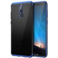 Custodia Silicone Trasparente Opaca Laterale per Huawei Mate 10 Lite Blu
