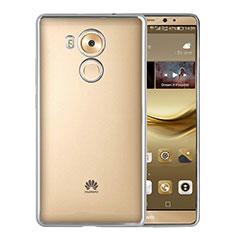 Custodia Silicone Trasparente Opaca Laterale per Huawei Mate 8 Argento