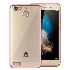 Custodia Silicone Trasparente Opaca Laterale per Huawei P8 Lite Smart Oro Rosa