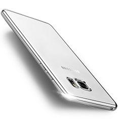 Custodia Silicone Trasparente Opaca Laterale per Samsung Galaxy Note 7 Argento