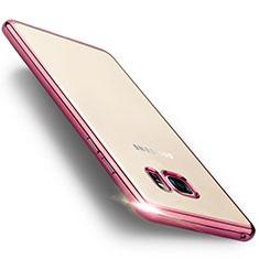 Custodia Silicone Trasparente Opaca Laterale per Samsung Galaxy Note 7 Rosa
