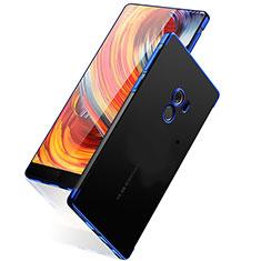Custodia Silicone Trasparente Opaca Laterale per Xiaomi Mi Mix Blu