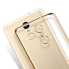 Custodia Silicone Trasparente Opaca Laterale per Xiaomi Redmi Note 3 Pro Oro