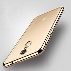 Custodia Silicone Trasparente Opaca Laterale per Xiaomi Redmi Note 4X High Edition Oro