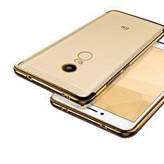 Custodia Silicone Trasparente Opaca Laterale per Xiaomi Redmi Note 4X Oro
