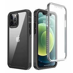 Custodia Silicone Trasparente Specchio Laterale 360 Gradi per Apple iPhone 12 Pro Max Nero