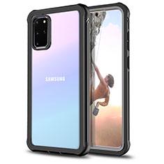 Custodia Silicone Trasparente Specchio Laterale 360 Gradi per Samsung Galaxy S20 Plus Nero