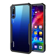 Custodia Silicone Trasparente Specchio Laterale Cover A01 per Huawei Honor Magic 2 Nero