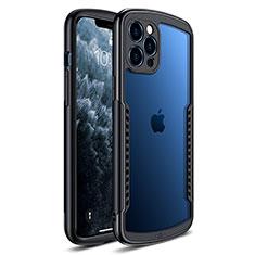 Custodia Silicone Trasparente Specchio Laterale Cover H01 per Apple iPhone 12 Pro Nero