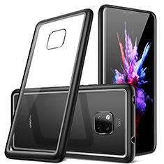 Custodia Silicone Trasparente Specchio Laterale Cover H01 per Huawei Mate 20 Pro Nero