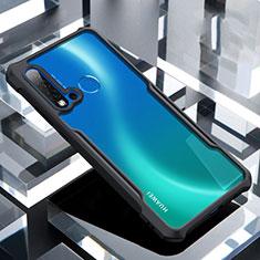Custodia Silicone Trasparente Specchio Laterale Cover H01 per Huawei P20 Lite (2019) Nero