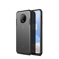 Custodia Silicone Trasparente Specchio Laterale Cover H01 per OnePlus 7T Nero