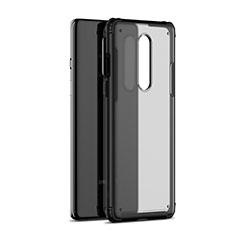 Custodia Silicone Trasparente Specchio Laterale Cover H01 per OnePlus 8 Nero