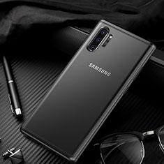 Custodia Silicone Trasparente Specchio Laterale Cover H01 per Samsung Galaxy Note 10 Plus 5G Nero