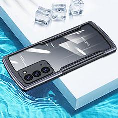 Custodia Silicone Trasparente Specchio Laterale Cover H01 per Samsung Galaxy Note 20 5G Grigio